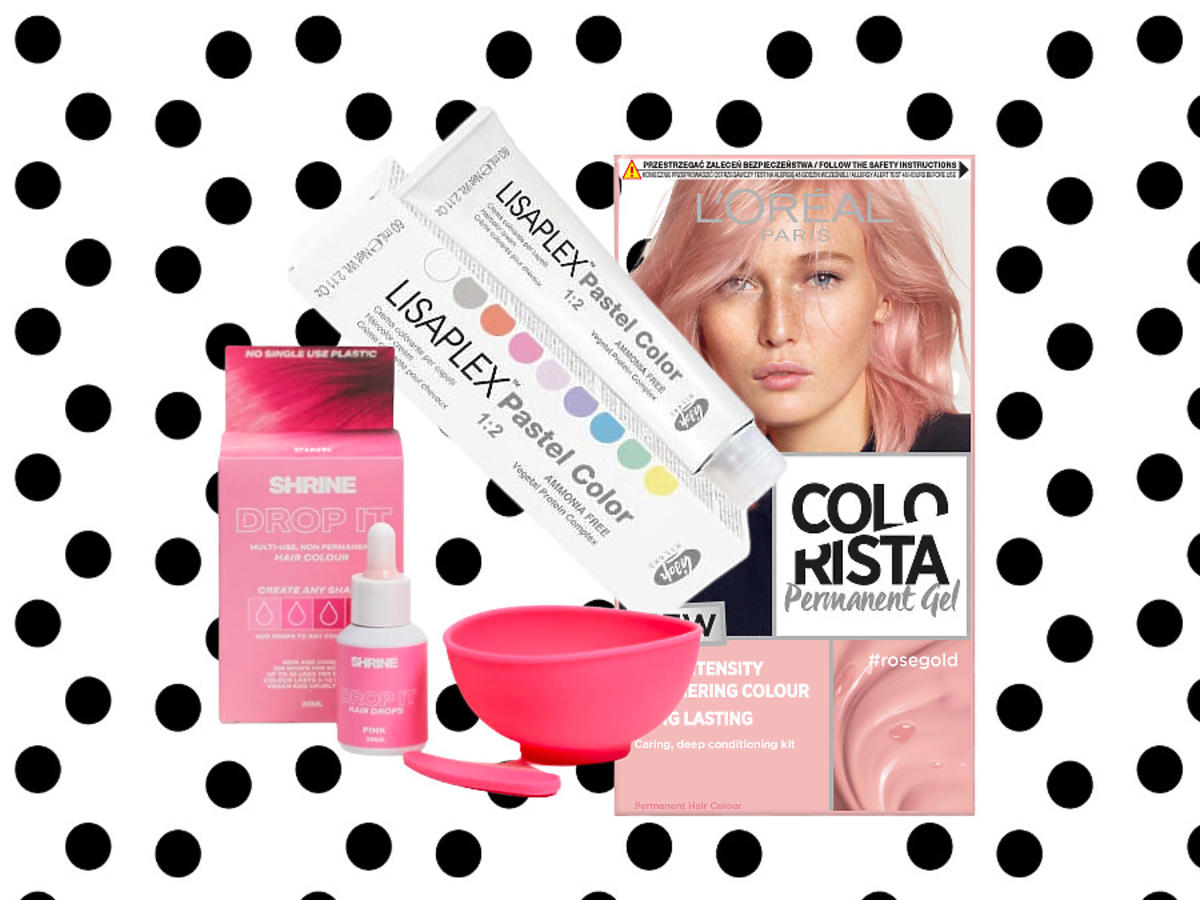 Różowa farba do włosów