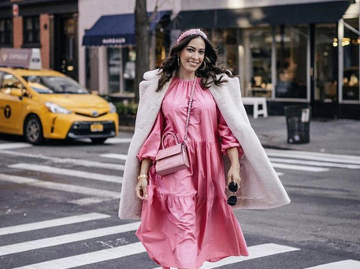 różowa sukienka h&m wiosna 2020