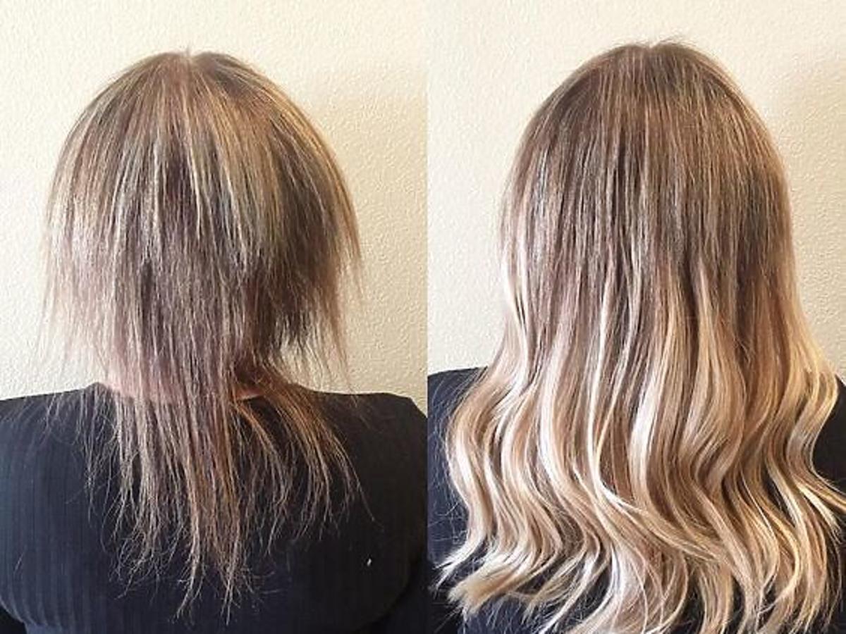 rzadkie włosy i włosy gęste