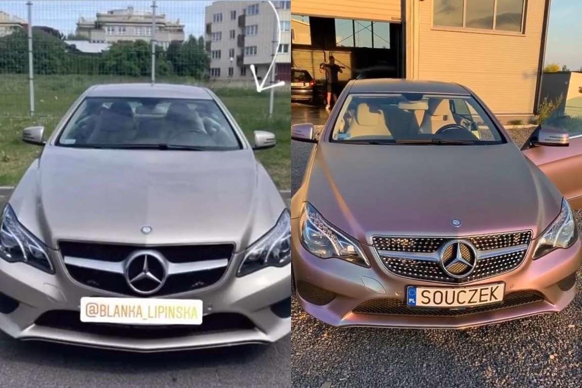 Samochód Blanki Lipińskiej i Barona