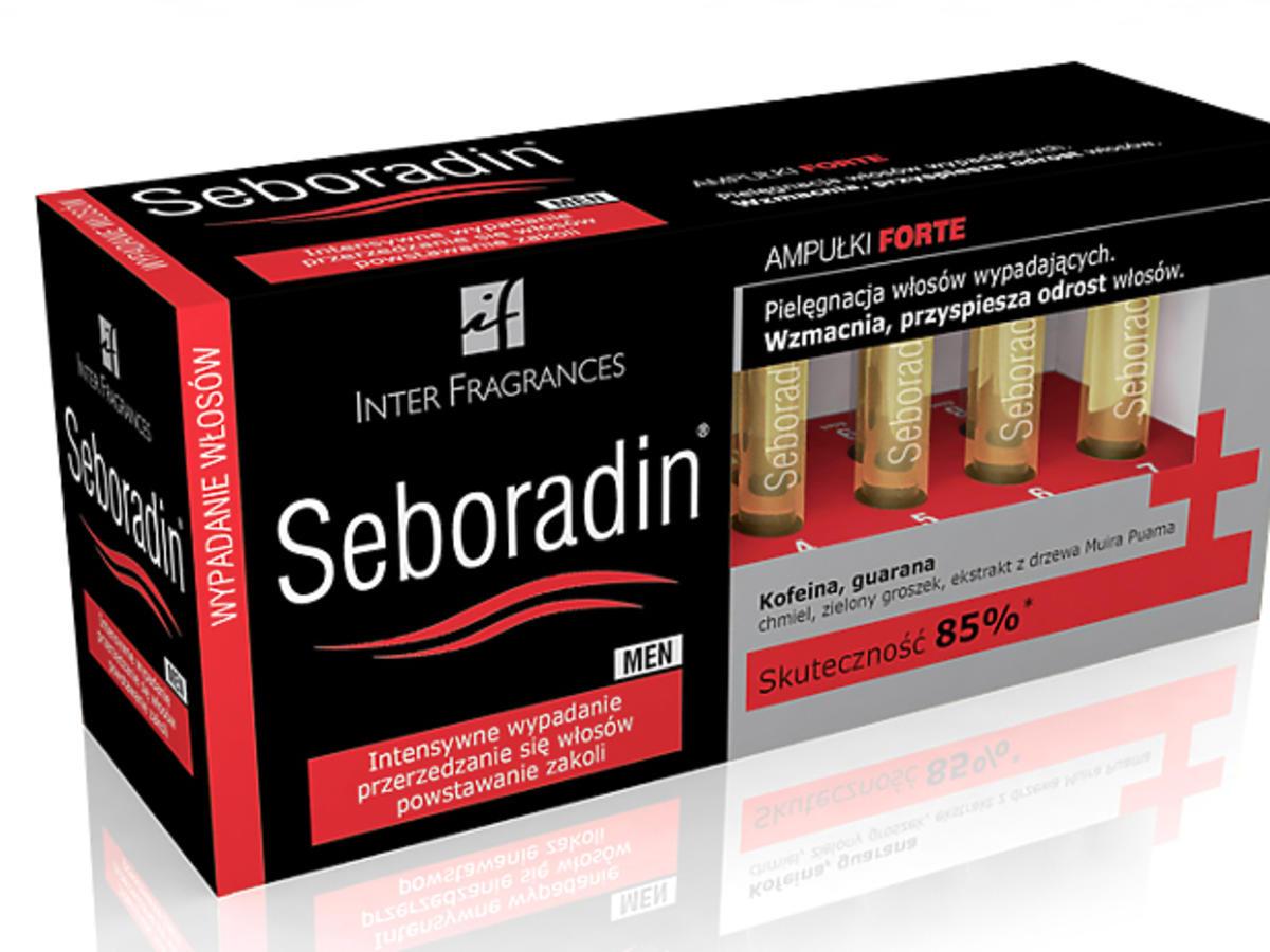 Seboradin Men Forte, jak powstrzymać wypadanie włosów, ampułki na wypadanie włosów, seboradin