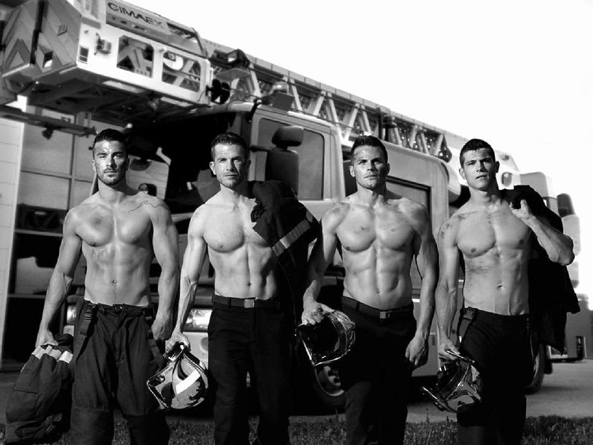 Seksowni francuscy strażacy