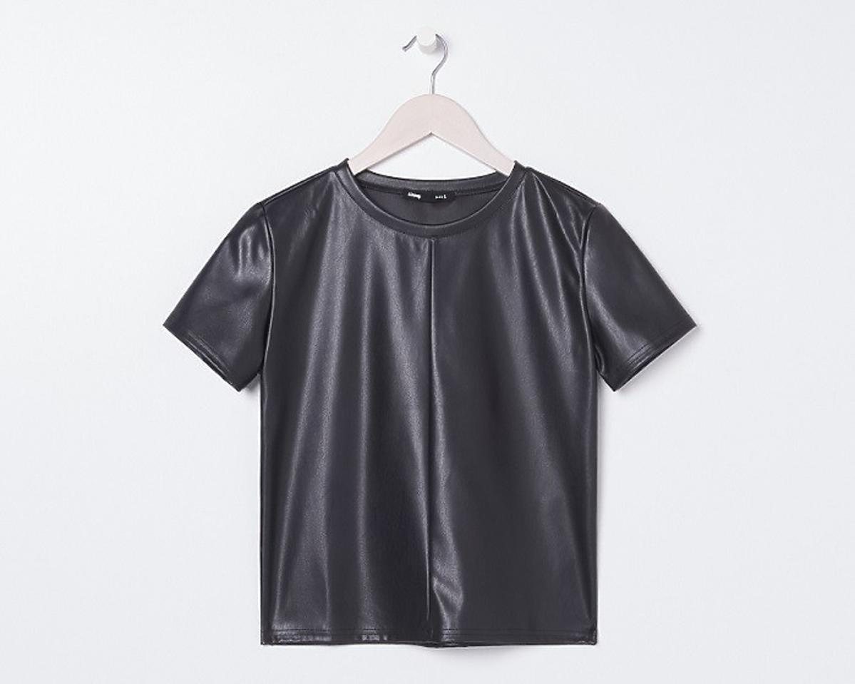 skórzana bluzka z Sinsay
