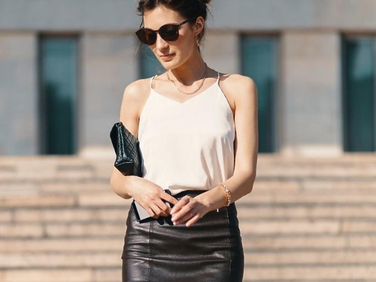 Skórzana spódnica z SinSay o ołówkowym kroju