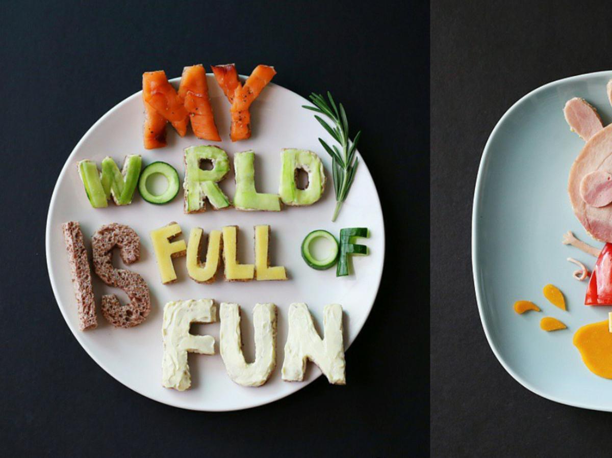 Śmieszna talerze