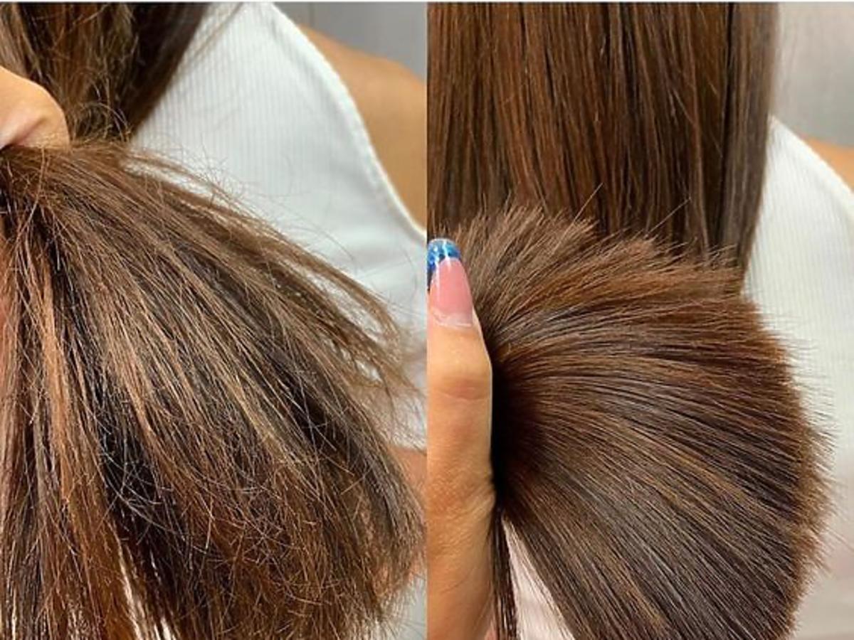 Spray do włosów Isana z Rossmanna