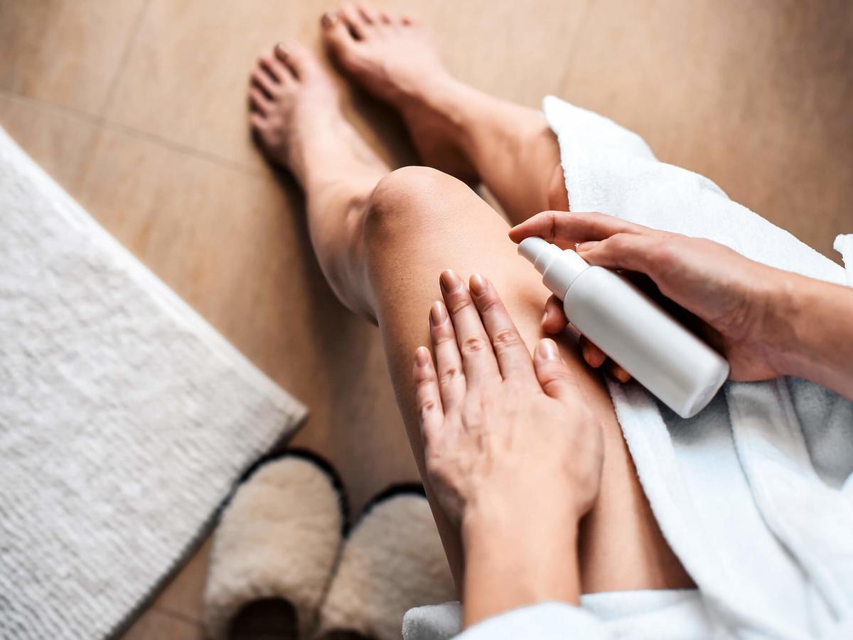 sucha skóra na nogach