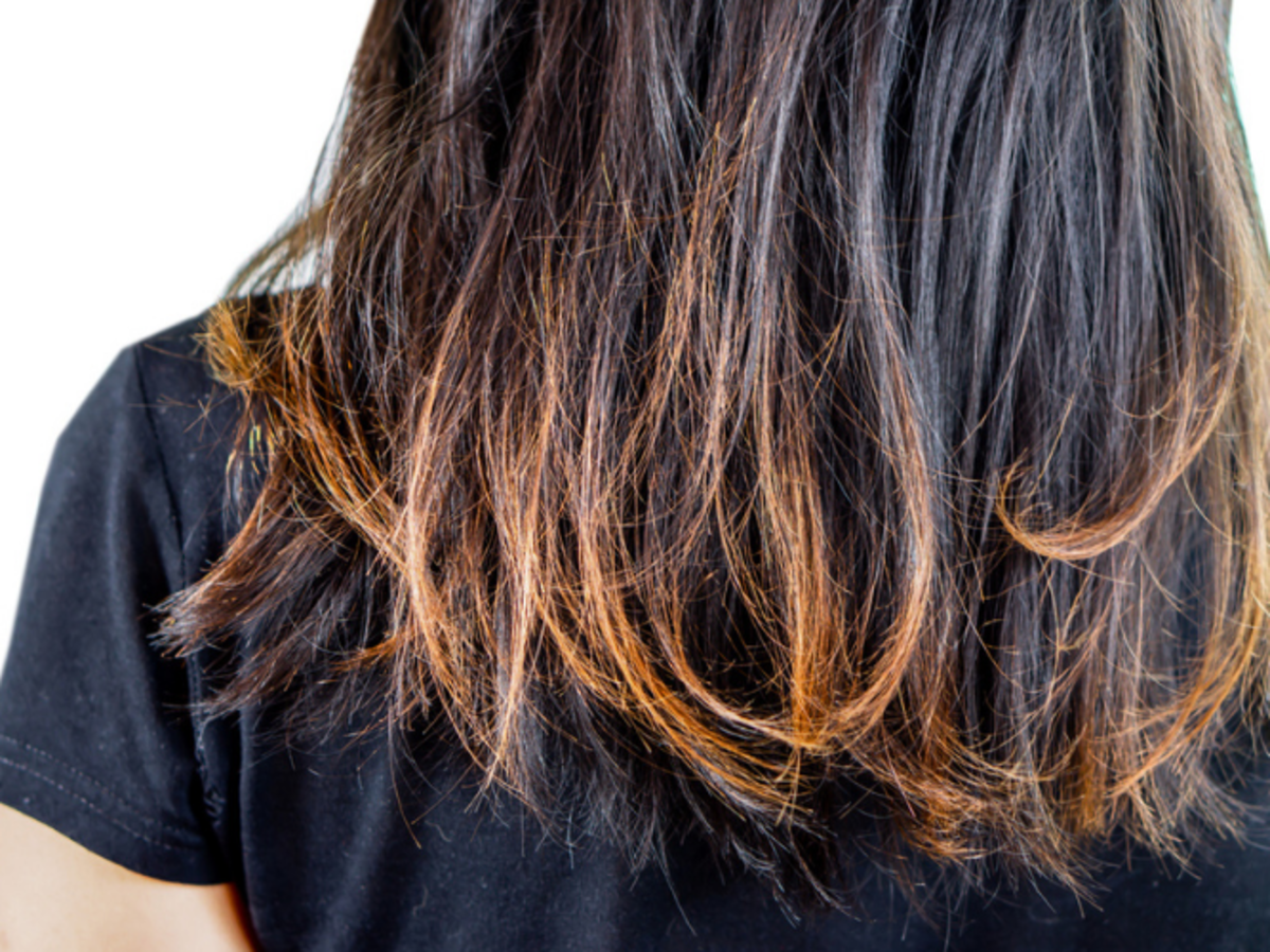 suche włosy  przed aloesową maską do włosów z Biedronki
