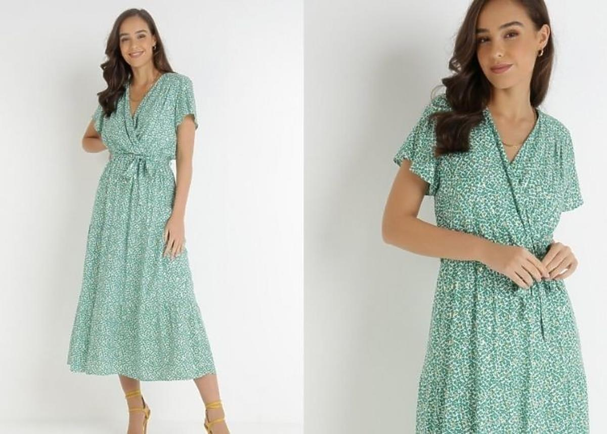sukienka kopertowa midi