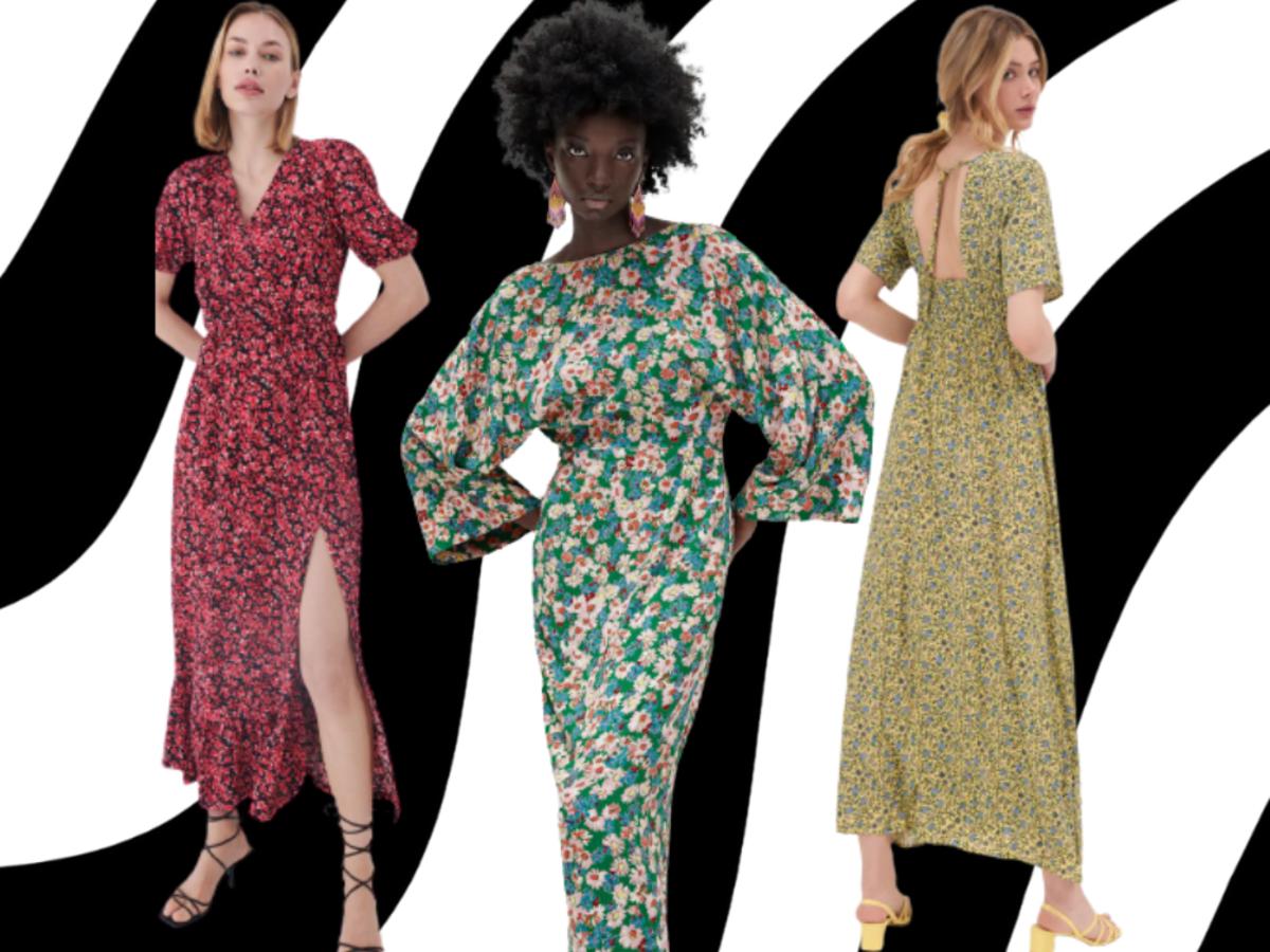 Sukienka maxi w kwiaty na lato 2021