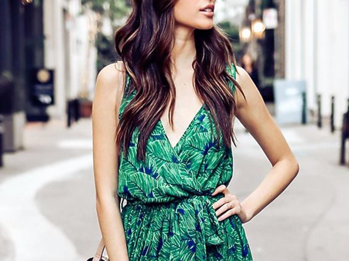 sukienka maxi we wzory na lato 2020