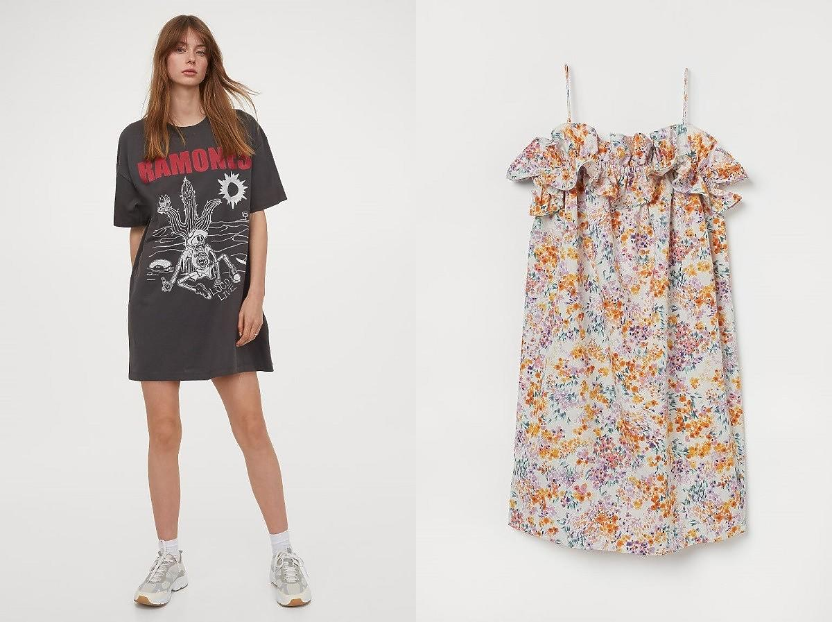 sukienki maskujące brzuch i biodra z H&M