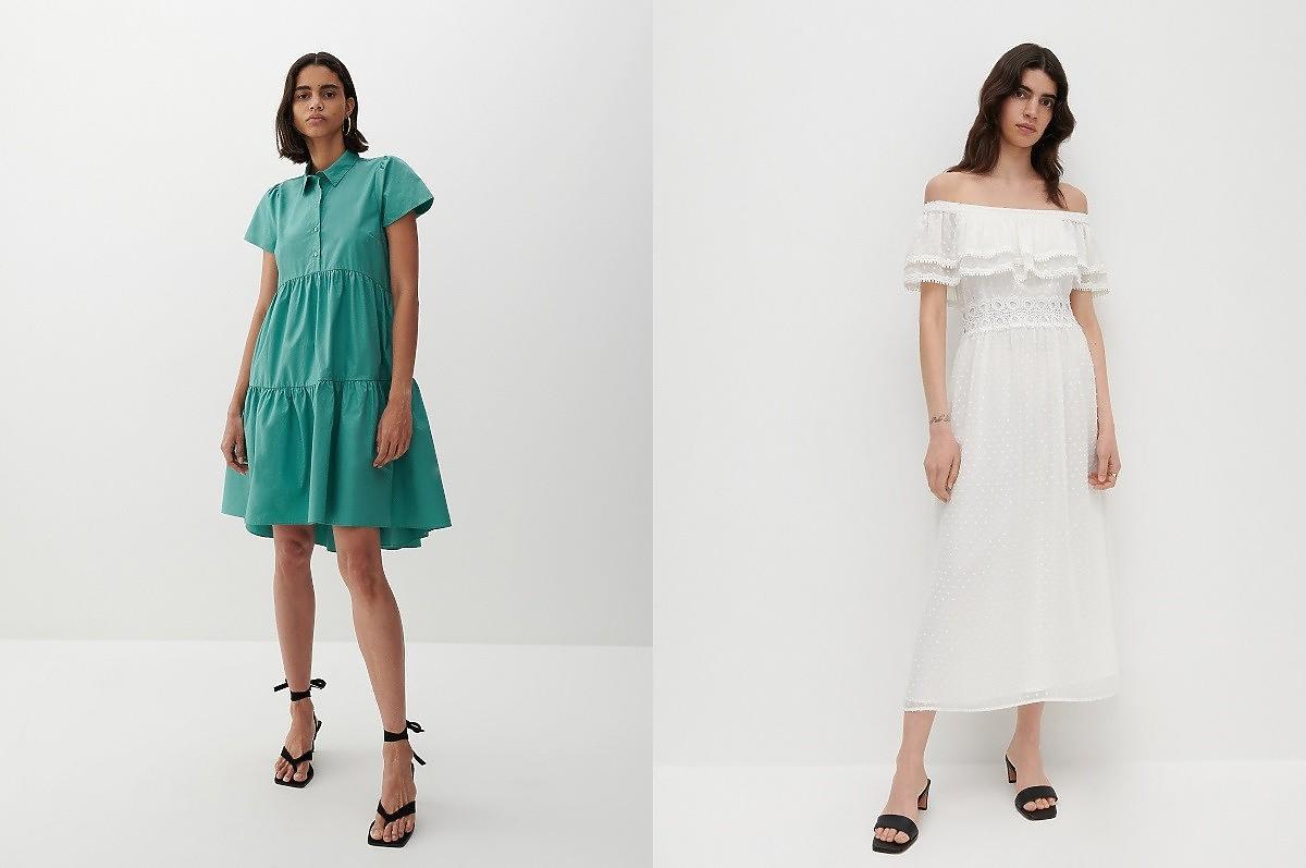 sukienki maskujące brzuch i biodra z Reserved