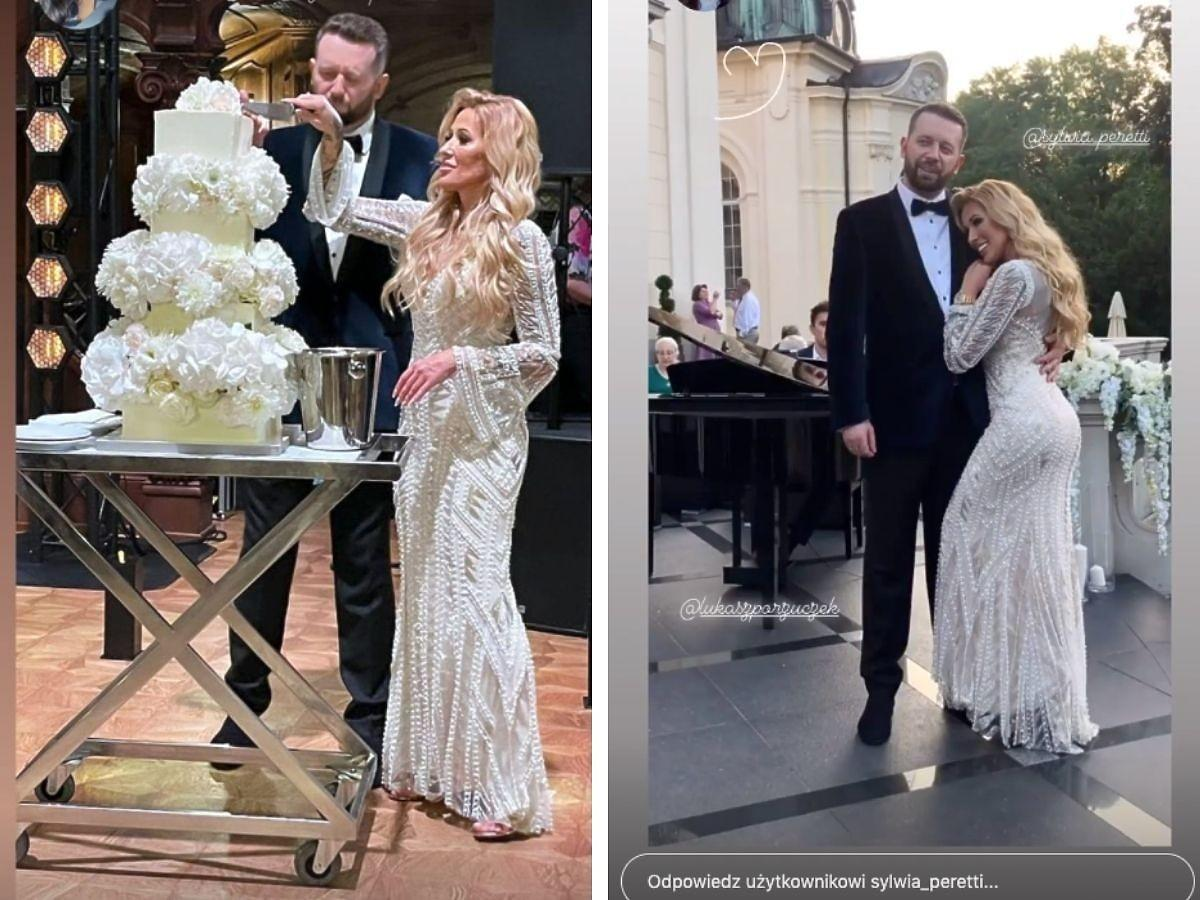 Sylwia Peretti tuż po ślubie
