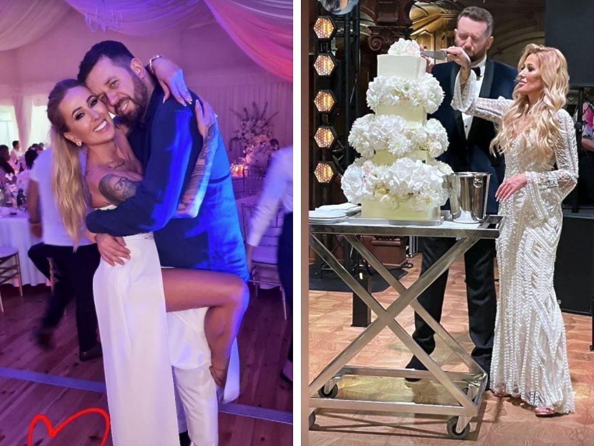Sylwia Peretti z mężem podczas wesela
