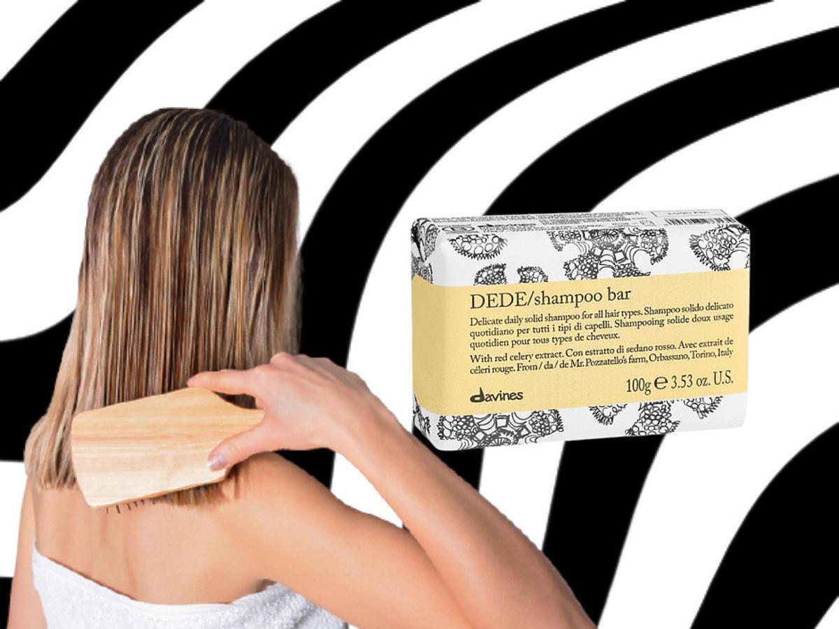 szampon do włosów w kostce