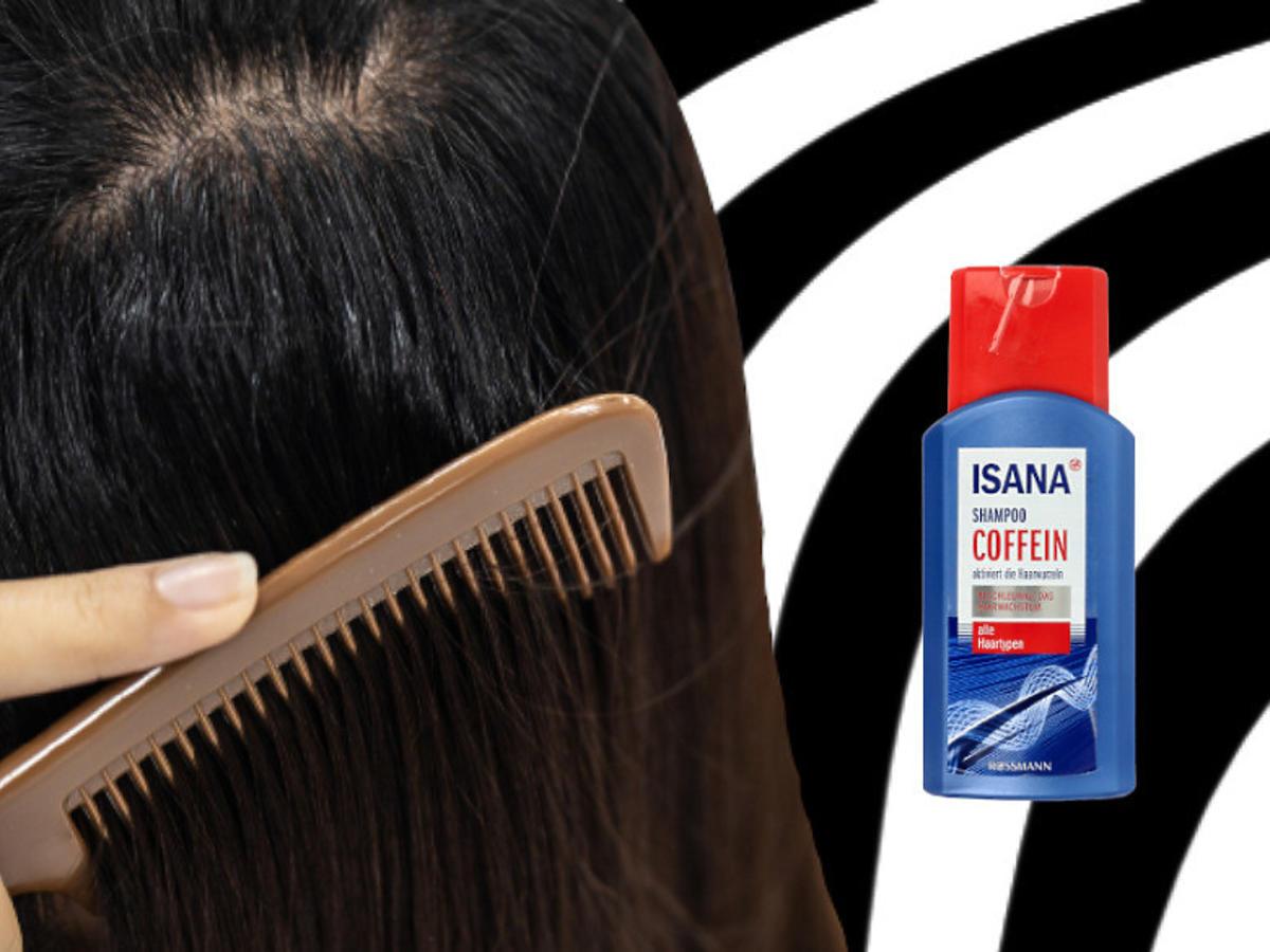 szampon kofeinowy Isana na porost włosów - Rossmann