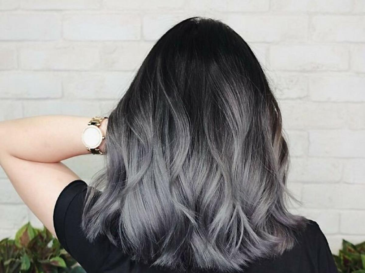 szare włosy
