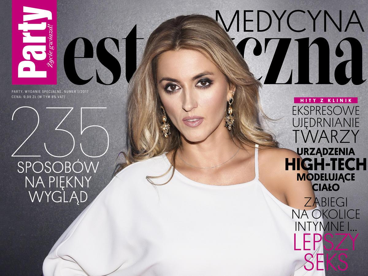 Szczupła Karolina Szostak na okładce magazynu Party Medycyna Estetyczna