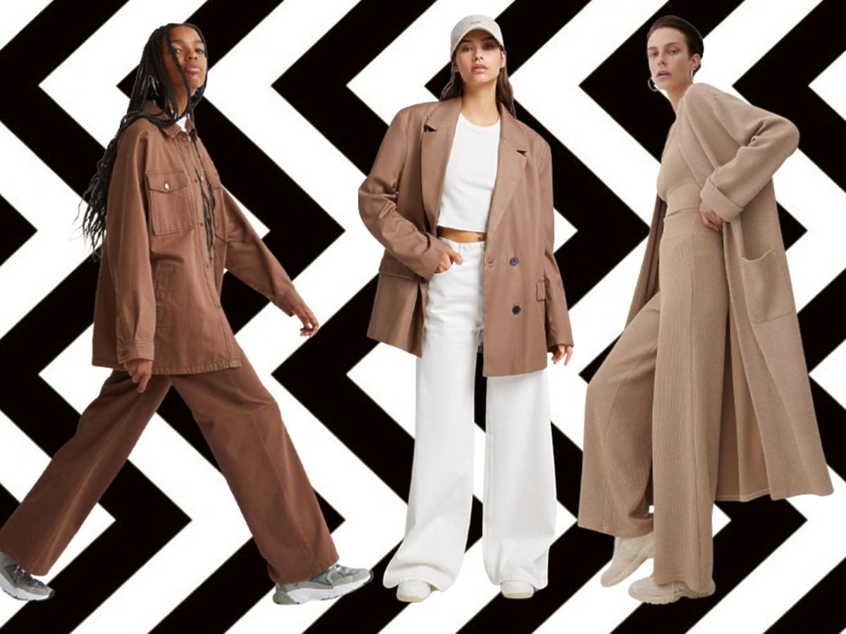szerokie spodnie na jesień 2021