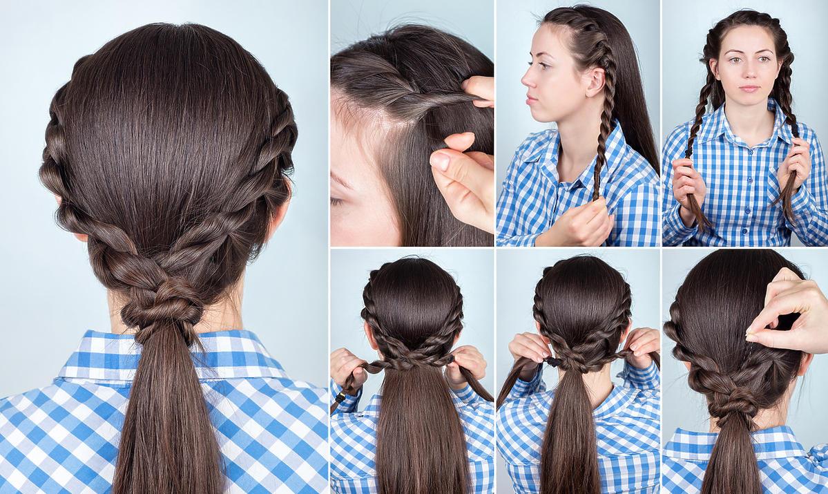 szybka fryzura do szkoły