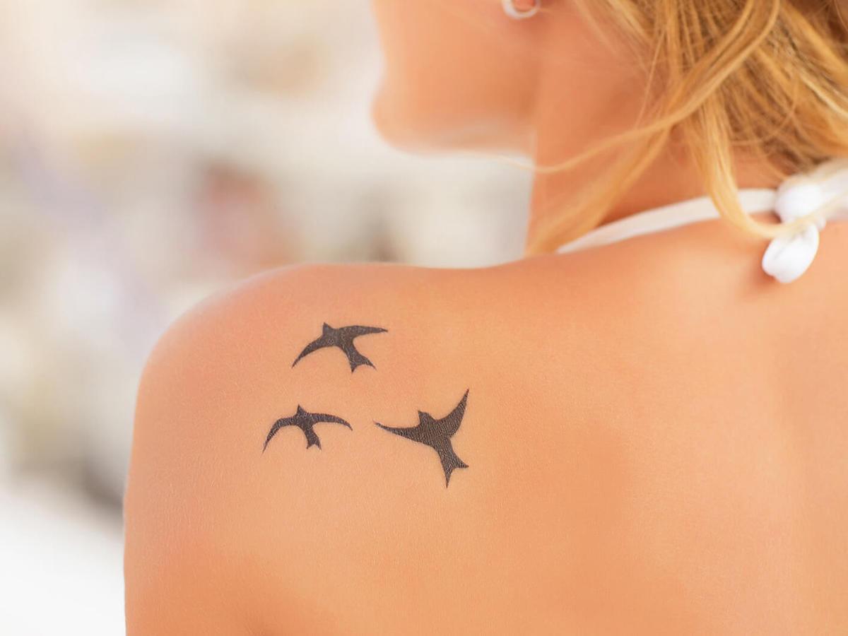 tatuaże zwierzęta - jaskółki