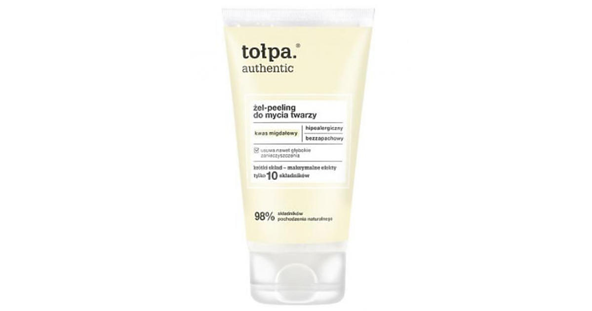 Tołpa, Authentic, Żel-peeling do mycia twarzy