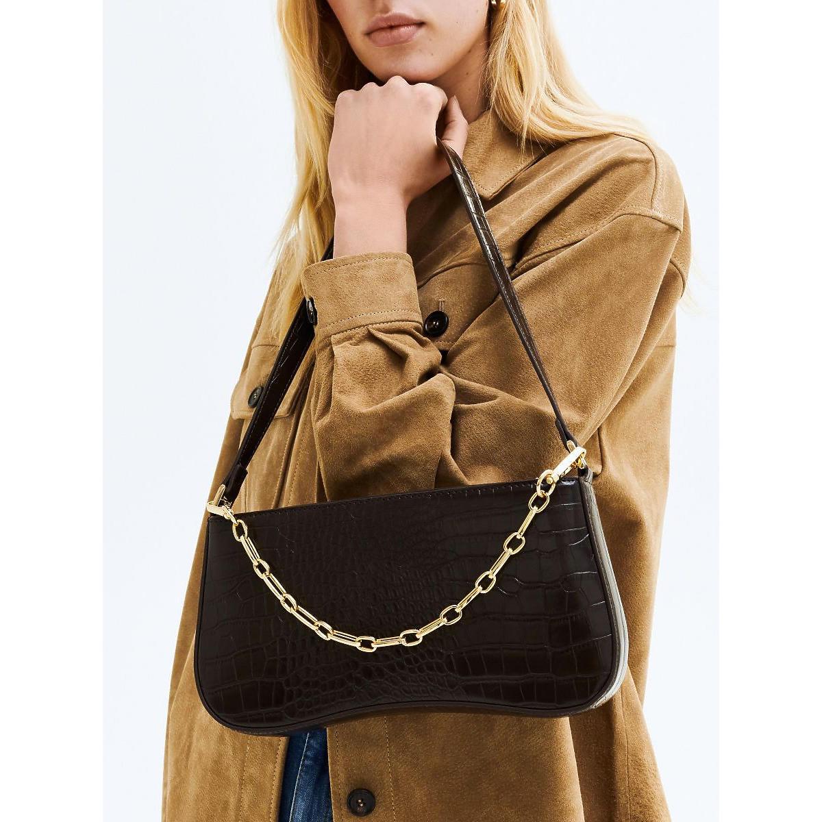 Torebka Reserved brązowa w stylu Diora