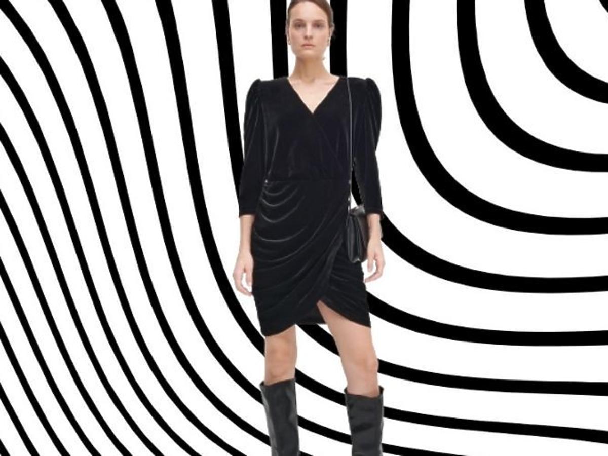 welurowa sukienka z Reserved