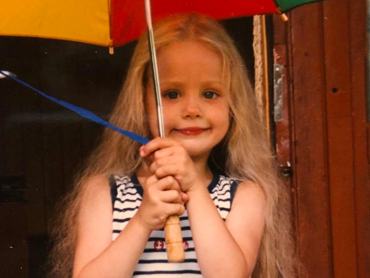 Wiktoria Gąsiewska pokazała zdjęcie z dzieciństwa