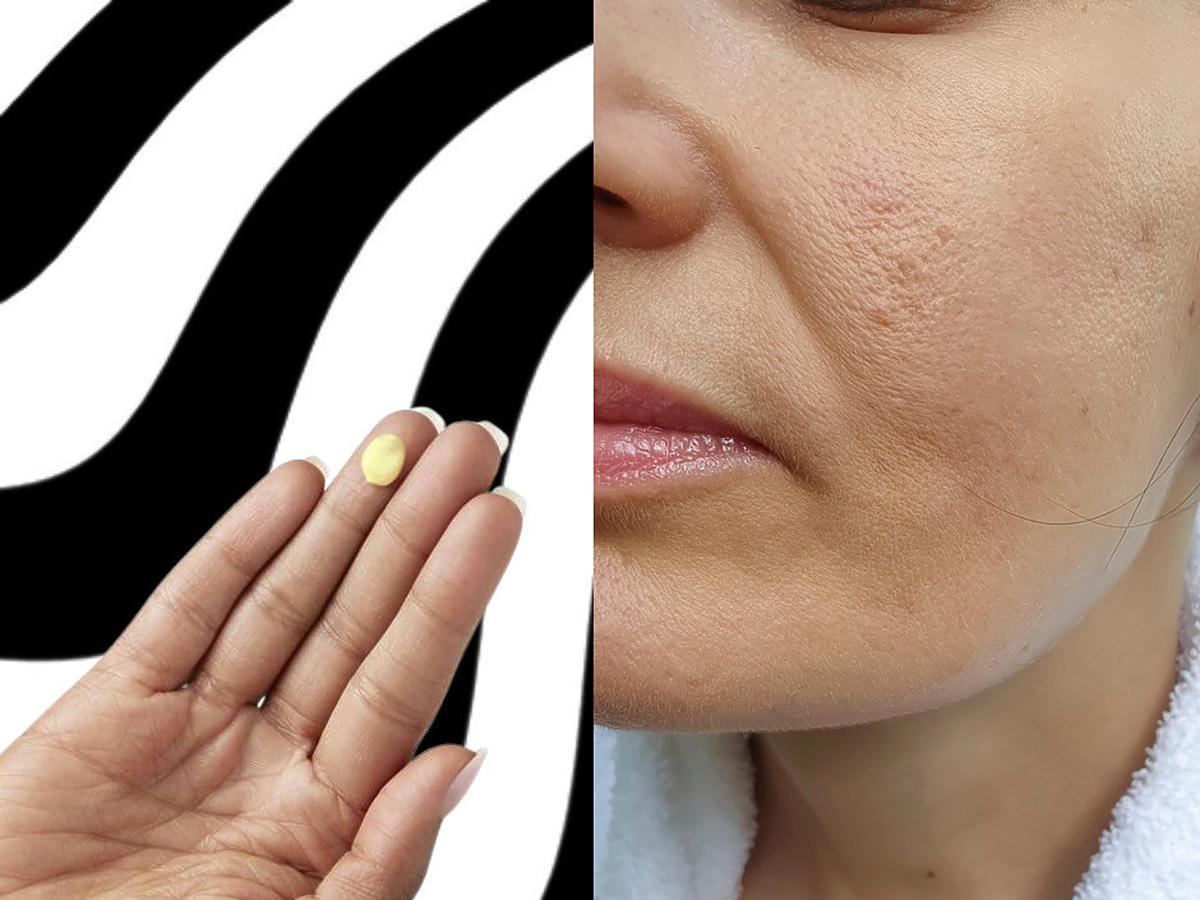 wiotka cera - serum do twarzy na dłoni
