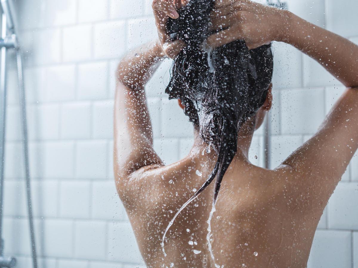 włosy umyte szamponem z Rossmanna