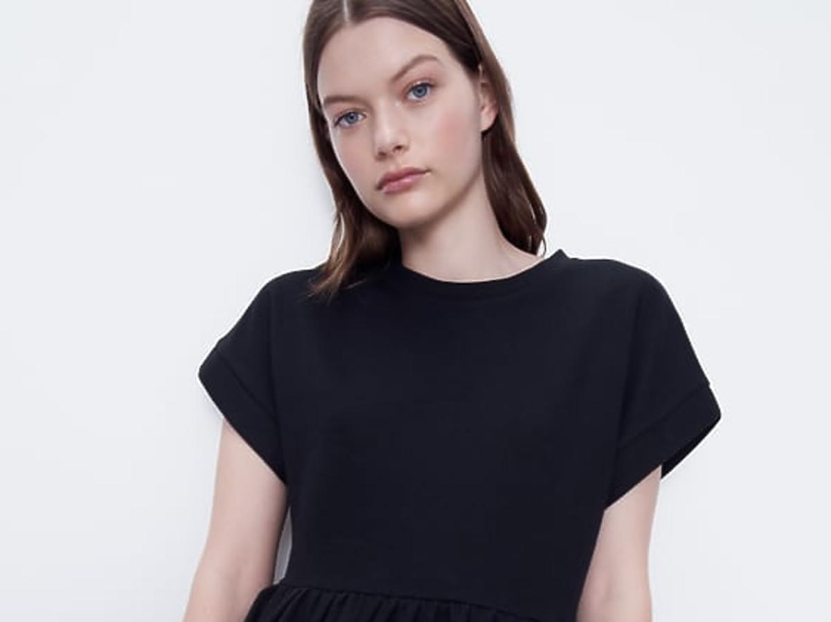 zara sukienka mała czarna