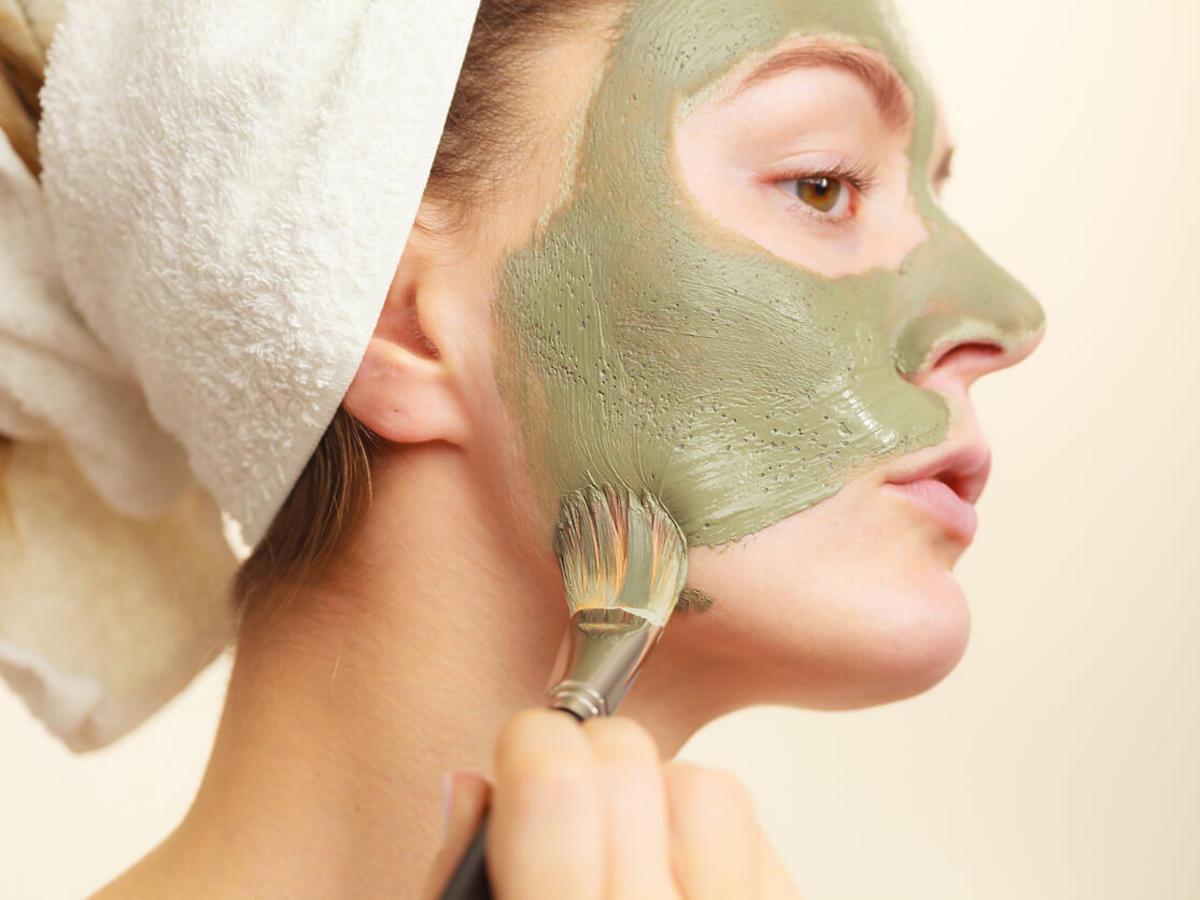 zielona glinka maska na twarz