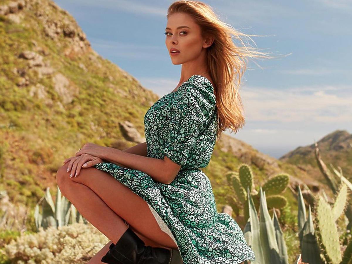 Zielona sukienka NAOKO, Joanna Opozda