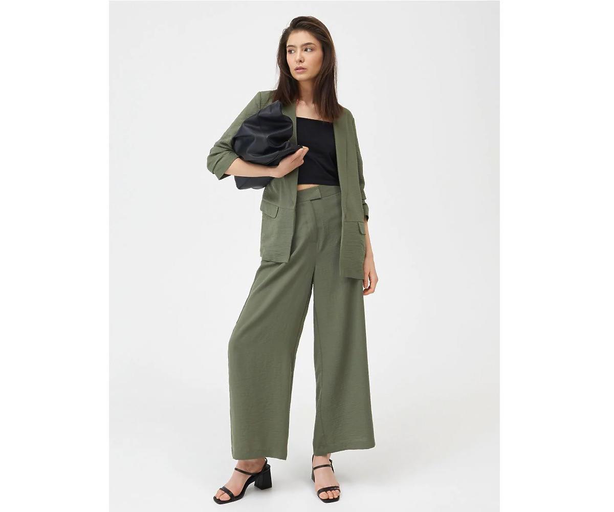 Zielone spodnie kuloty, Sinsay