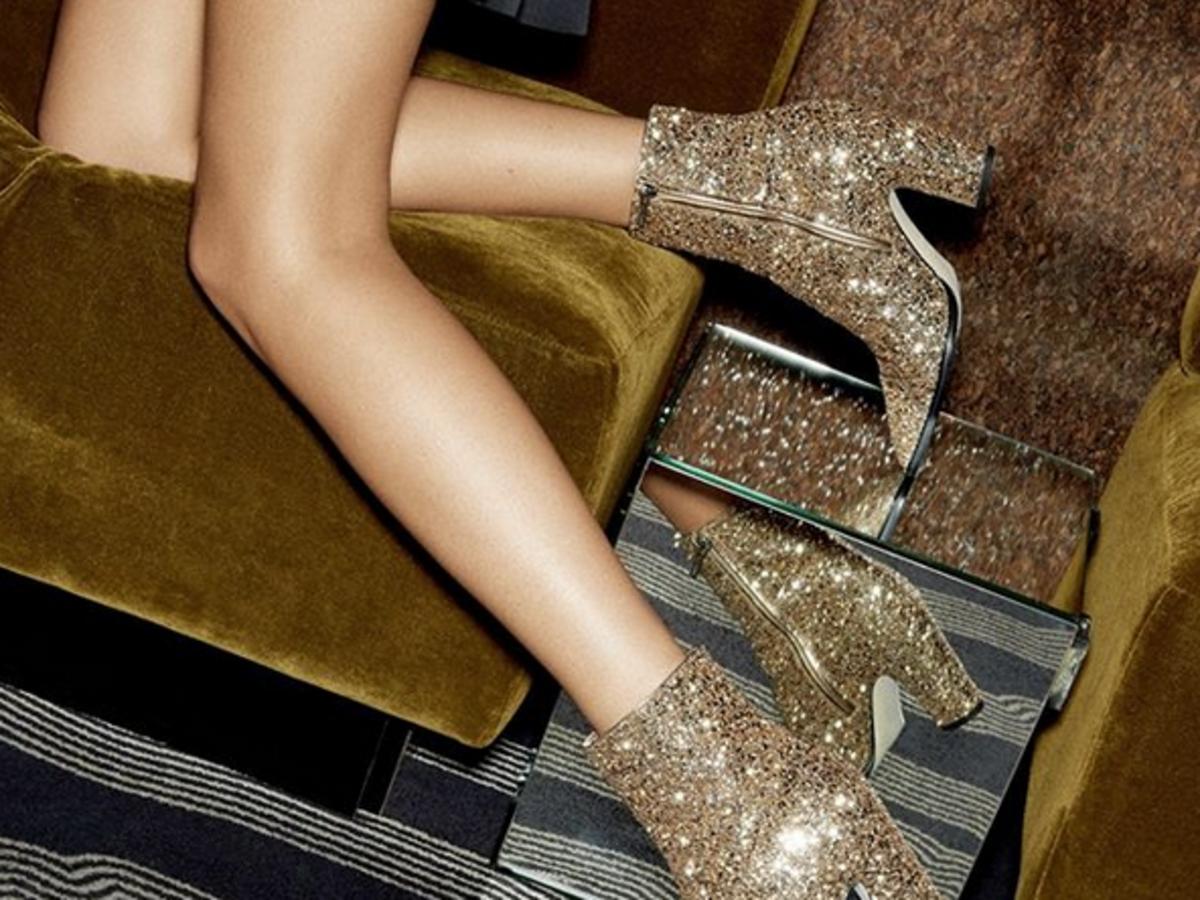 złote buty na sylwestra 2019