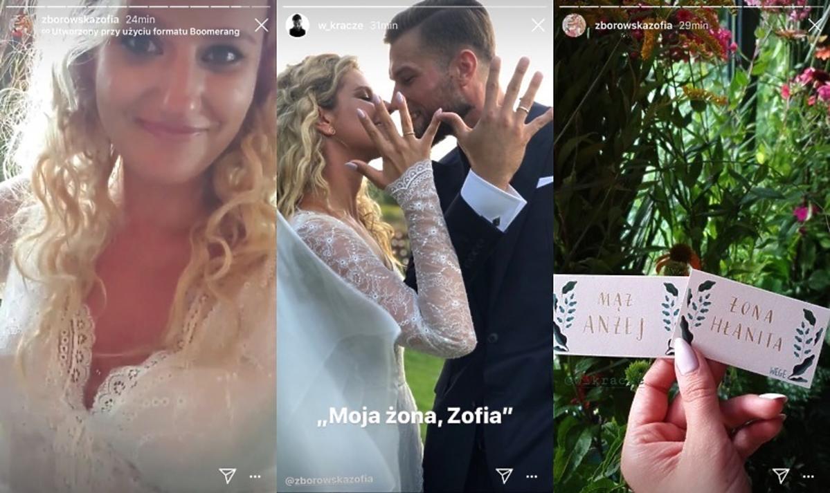 Zofia Zborowska i Andrzej Wrona wzięli ślub