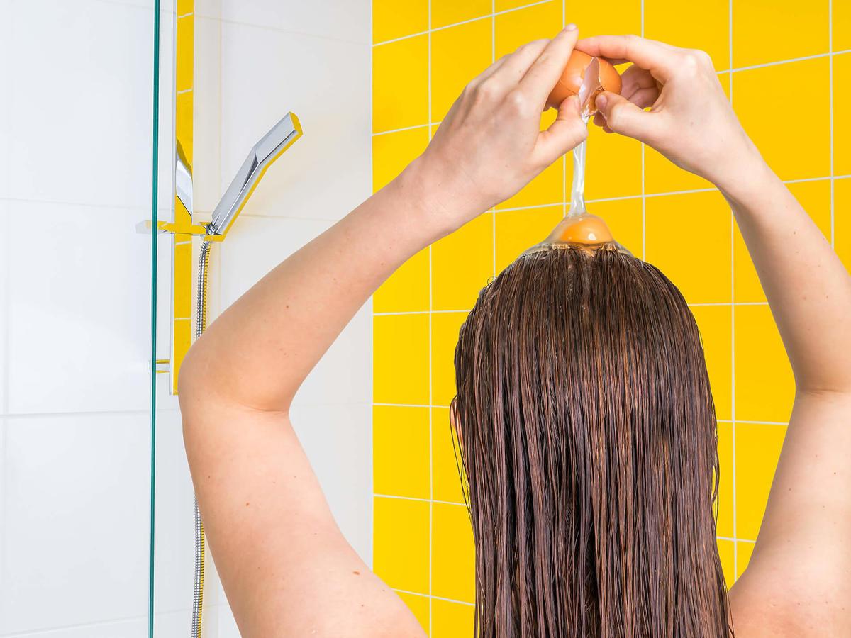 żółtko na włosy