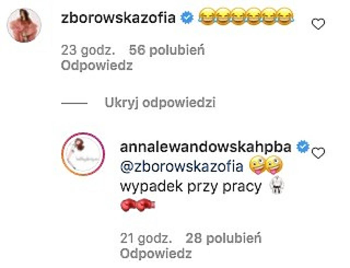 Zosia Zborowska komentuje post Anny Lewandowskiej