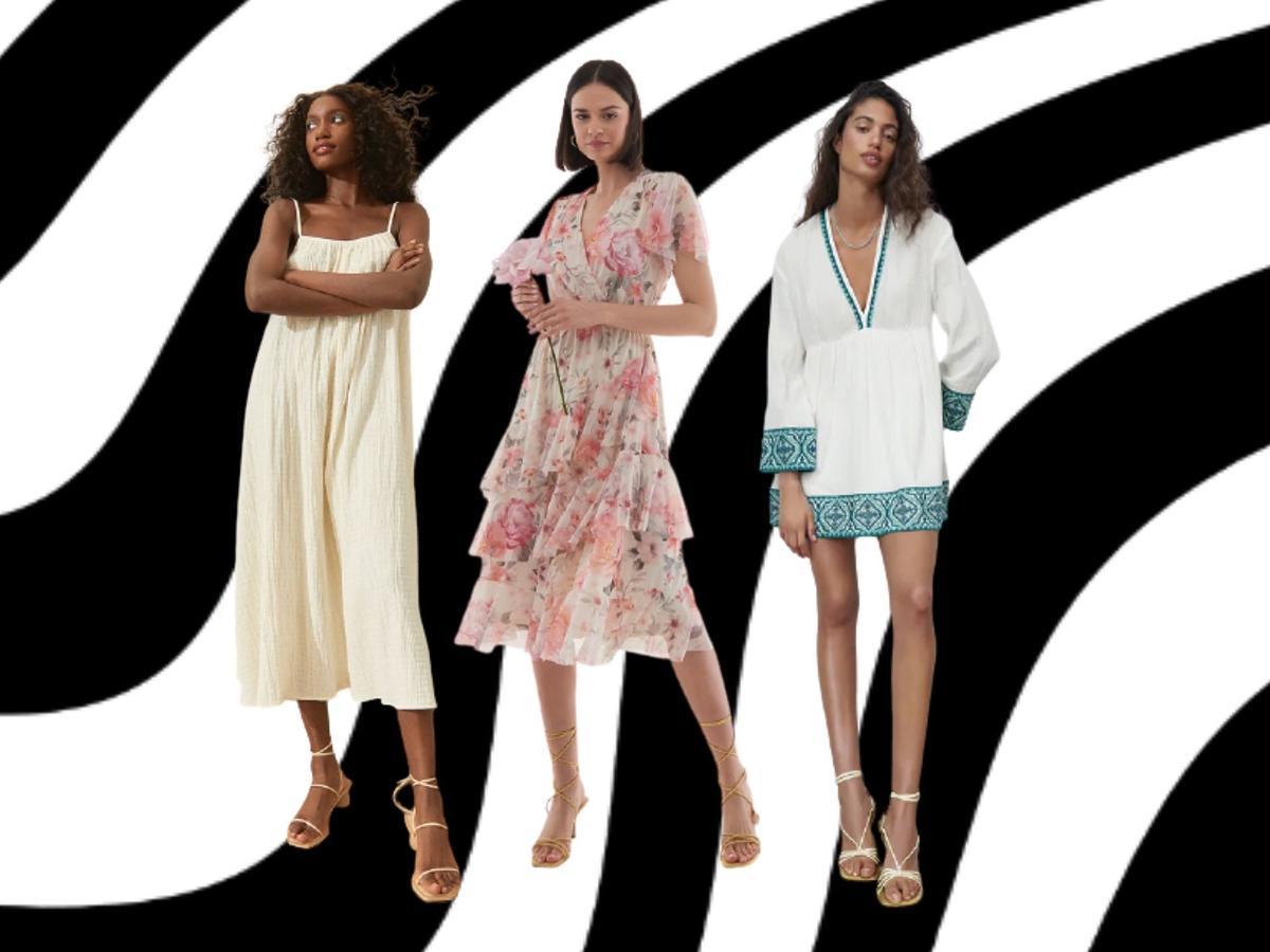 zwiewne sukienki na lato z sieciówek